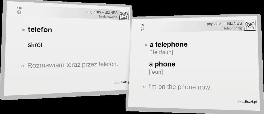 telefon po angielsku