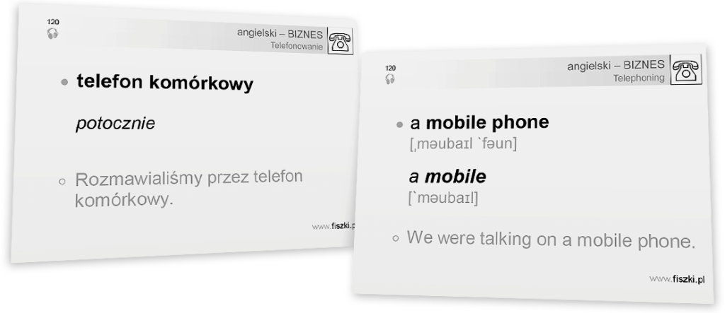 telefon komórkowy po angielsku