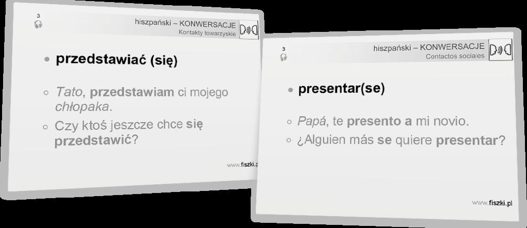 przedstawiać się po hiszpańsku