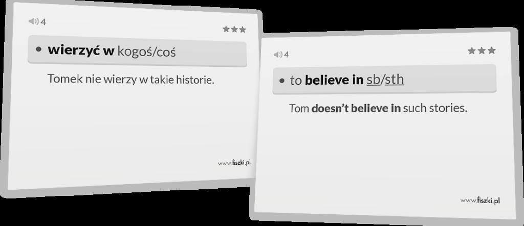wierzyć po angielsku