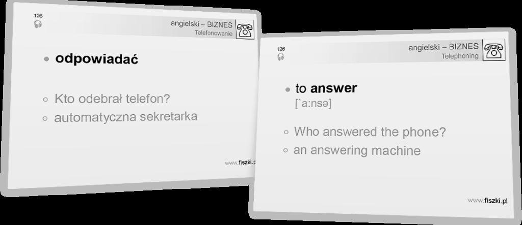 odpowiadać po angielsku