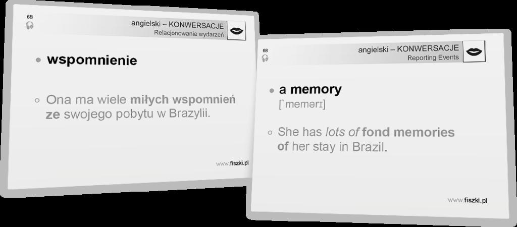 wspomnienie po angielsku