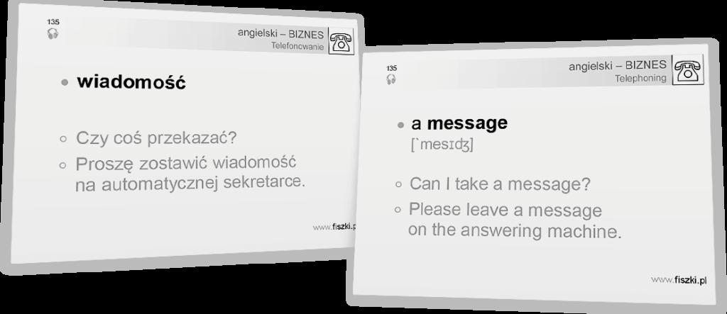 wiadomość po angielsku