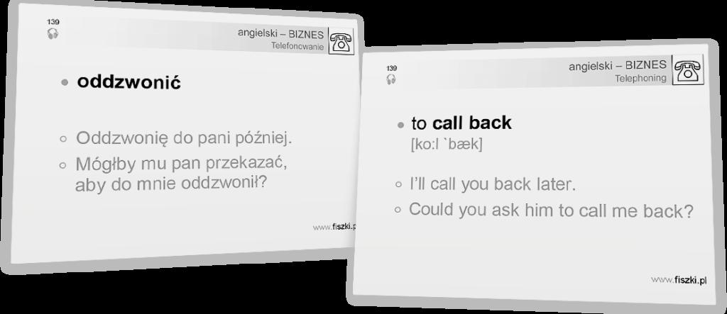 oddzwonić po angielsku