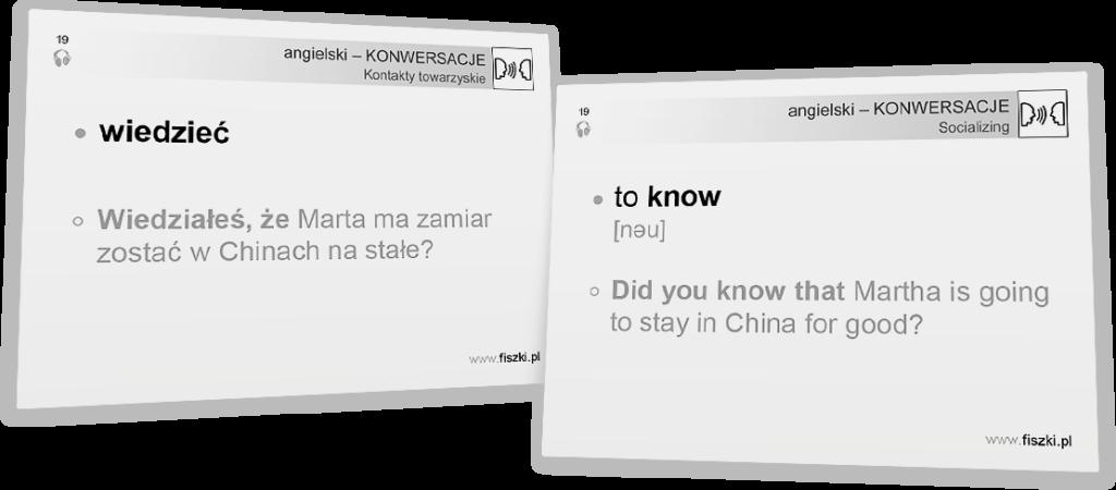 wiedziec po angielsku