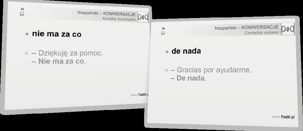 nie ma za co po hiszpańsku