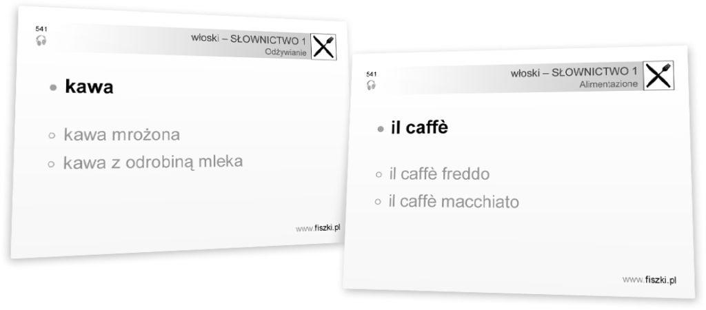 włoski dla pocżtkujących kawa