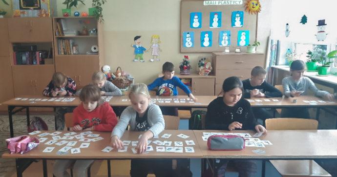 lekcja angielskiego z fiszkami