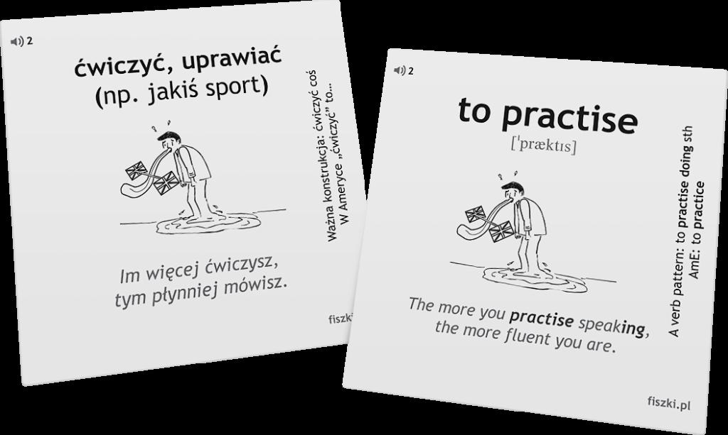 ćwiczyć po angielsku słówka