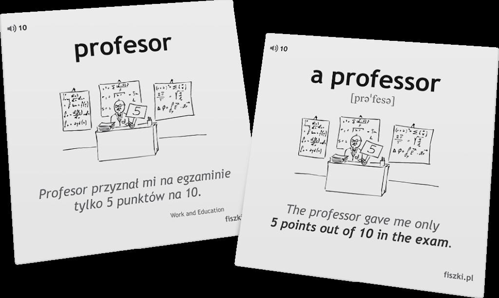 profesor po angielsku