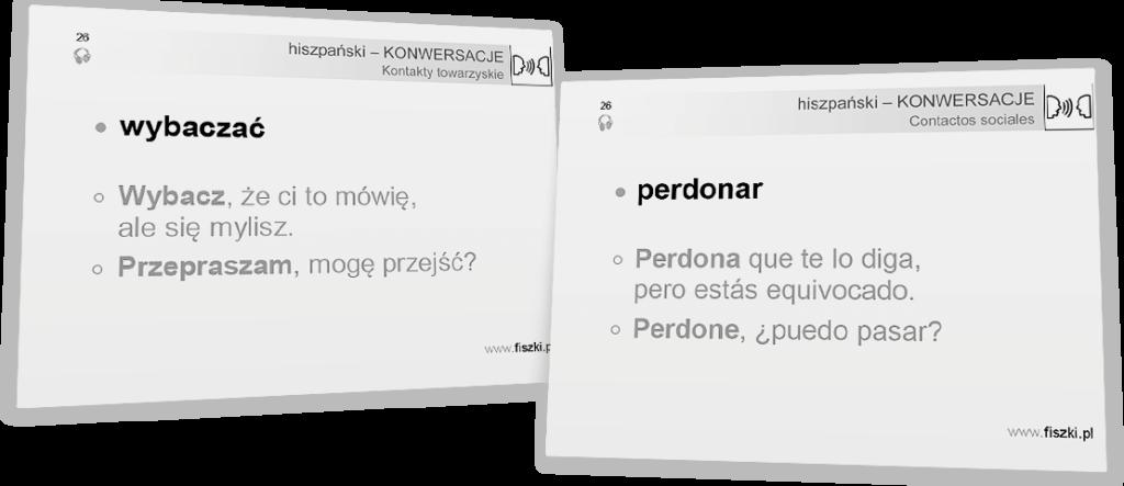 wybacz po hiszpańsku