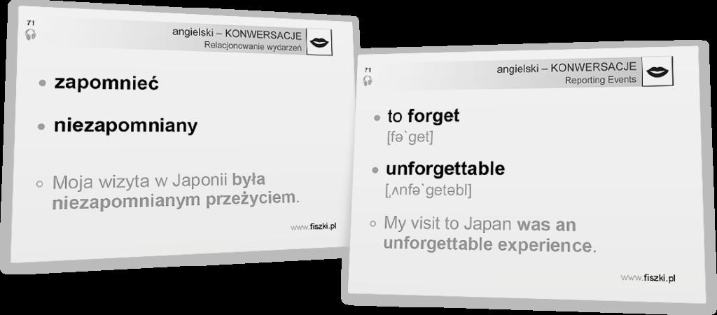 niezaqpomniany po angielsku