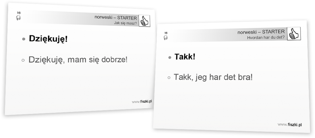 dziękuję po norwesku