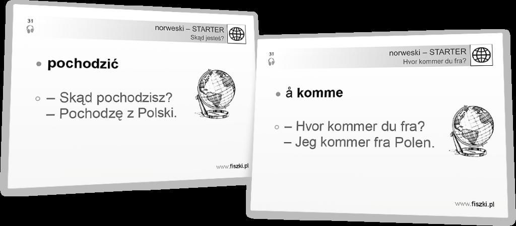 pochodzić po norwesku
