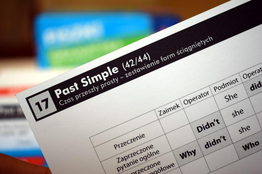 Czas przeszły prosty Past Simple tabelka