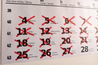Skreślanie dni w kalendarzu wyrabia nawyk systematycznej nauki