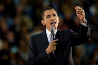 Obama podczas przemówienia