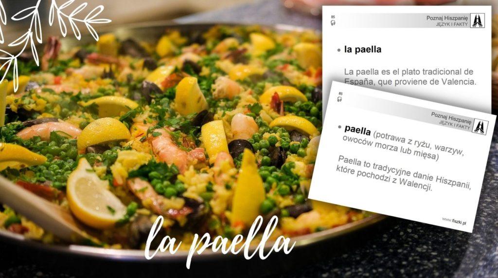 fiszka: paella