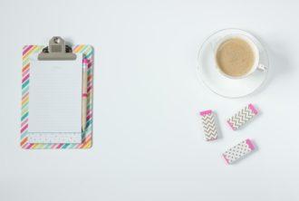 kawa i notatnik