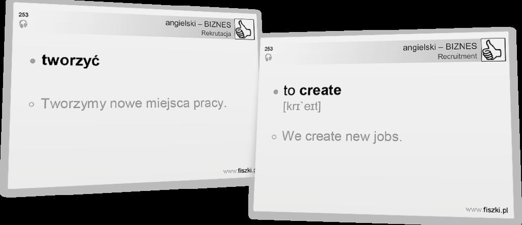 Angielski biznesowy to create