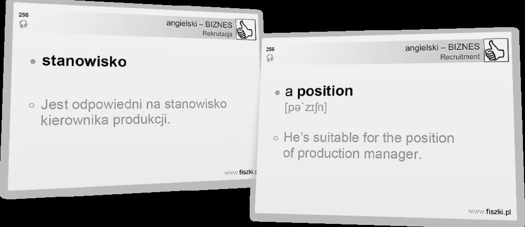 Angielski biznesowy stanowisko