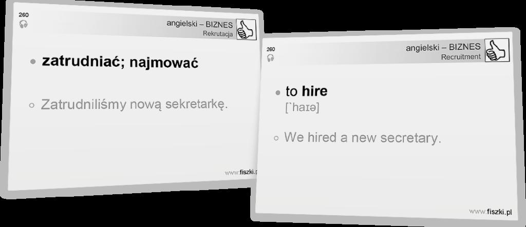 Angielski biznesowy zatrudniać