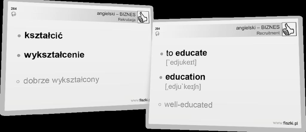 Angielski biznesowy wykaształcenie