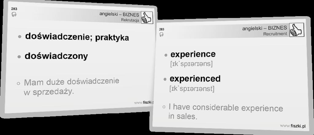 Angielski biznesowy doświadczenie