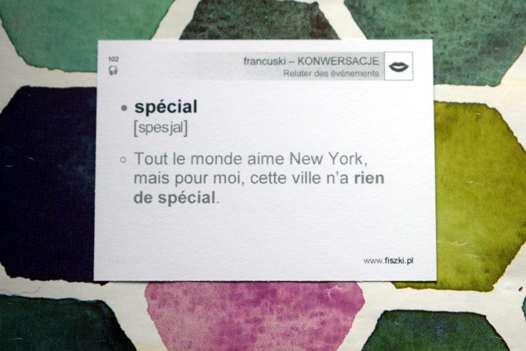 nic specjalnego po francusku