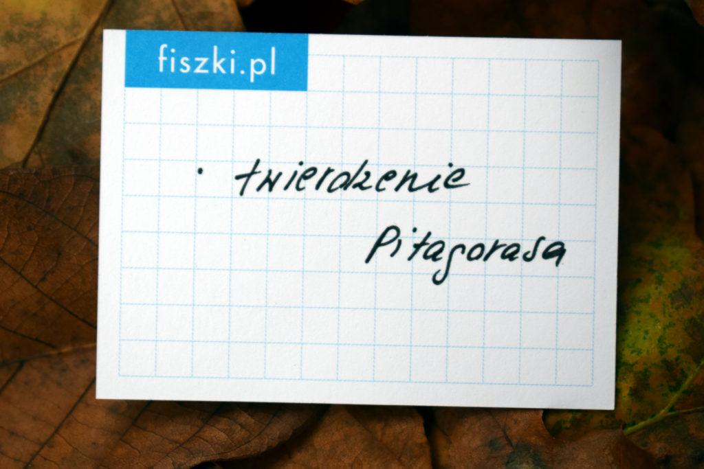 Fiszka In Blanco w kratkę twierdzenie Pitagorasa