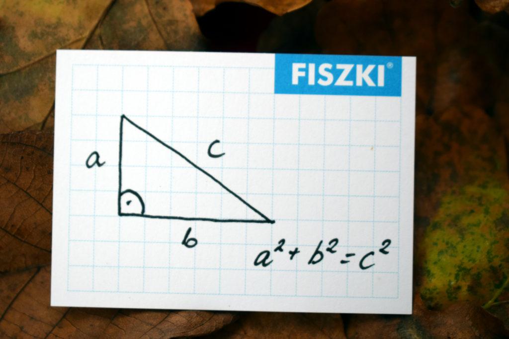 Fiszka In Blanco w kratkę twierdzenie Piotagorasa - wzór