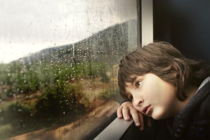 w czasie deszczu dzieci się nudzą
