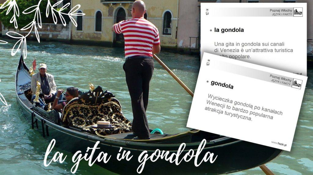 Wirtualna wycieczka do Włoch fiszki - gondola