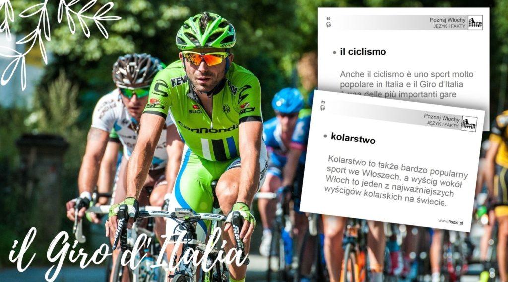 fiszka język włoski: kolarstwo - il ciclismo