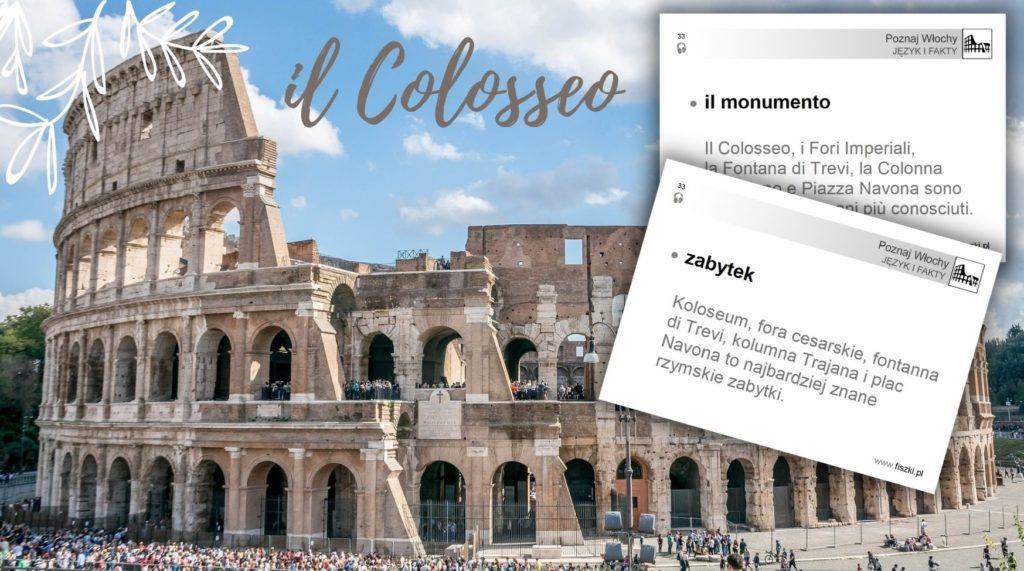 Wirtualna wycieczka do Włoch fiszki zabytek - Koloseum