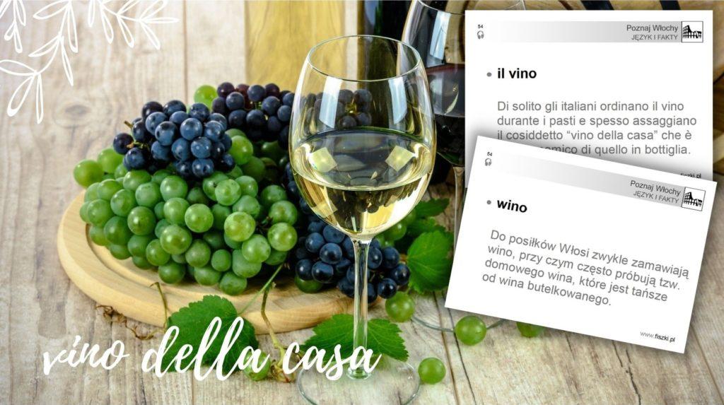 fiszka język włoski: wino - il vino