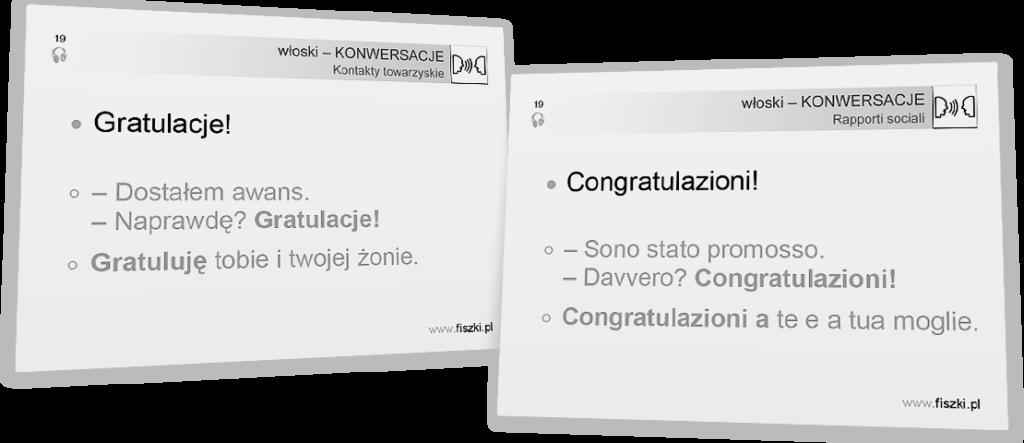 gratulacje po włosku
