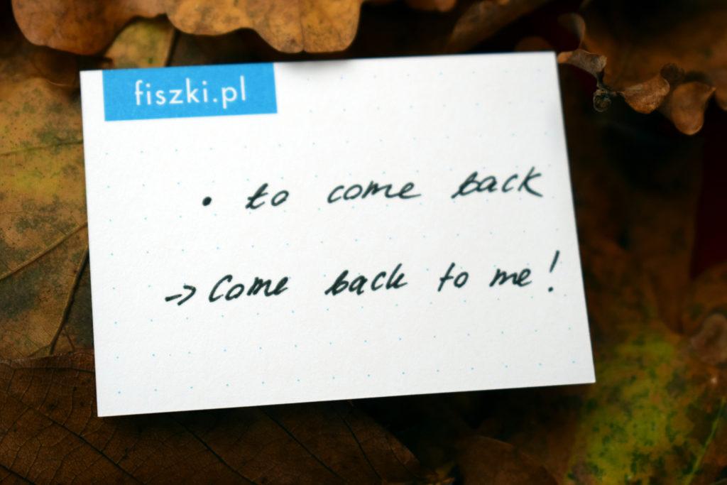 Fiszka In Blanco w kropki - to come back