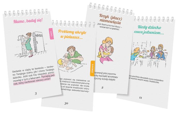 poradniki dla rodziców - przykładowe karty