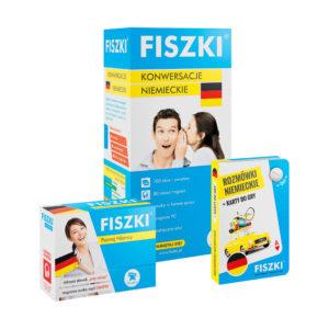 Zestaw fiszki i rozmówki do nauki niemieckiego - dla podróżników