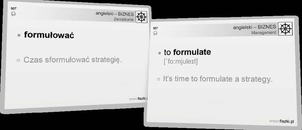 Business English formułować