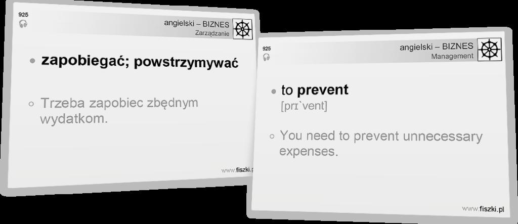Angielski Biznes - to prevent