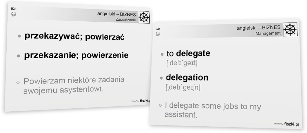 Business English to delegate